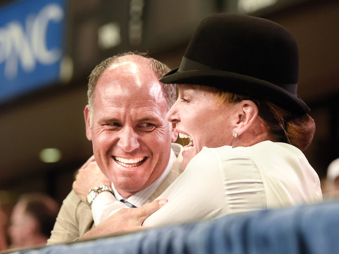 Hill croft Farm owners Misdee and James Miller overjoyed by their horse The Daily Lottery winning the 5 gaited World's Grand Championship