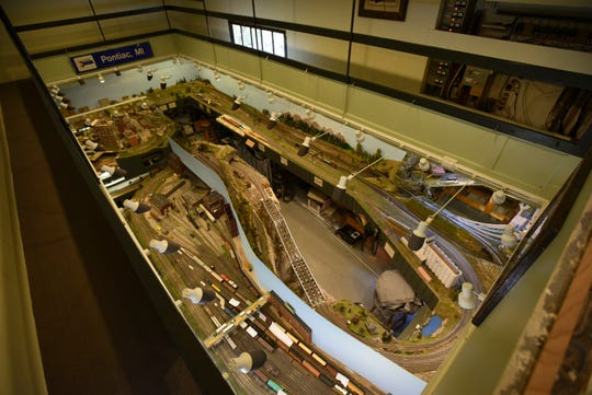 A model railroad inside Grand Trunk Western Millett depot on Old Lansing Road in Delta Township.  The Lansing Model Railroad Club calls it home now.