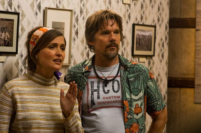 "It's Rose Byrne and Ethan Hawke, clothed, in ""Juliet, Naked."""