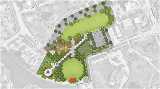 Design concept for Veterans Community Park