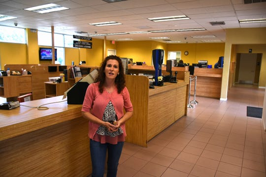 Marco office manager Sarah Clayton in the Winterberry Drive office on Friday, their last day of operation. The Marco Island office of the Collier County Tax Collector is closing for renovations, with services provided at the library until their scheduled reopening in October.