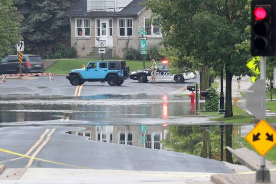 Highway 33 in Saukville is closed due to flooding on Monday.