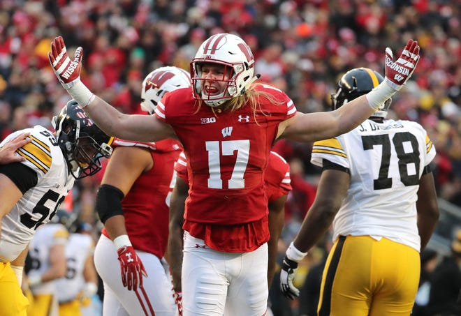 Linebacker Andrew Van Ginkel and the Badgers will face border rival Iowa on Sept. 22 in a meeting of two of the top teams in the West Division.