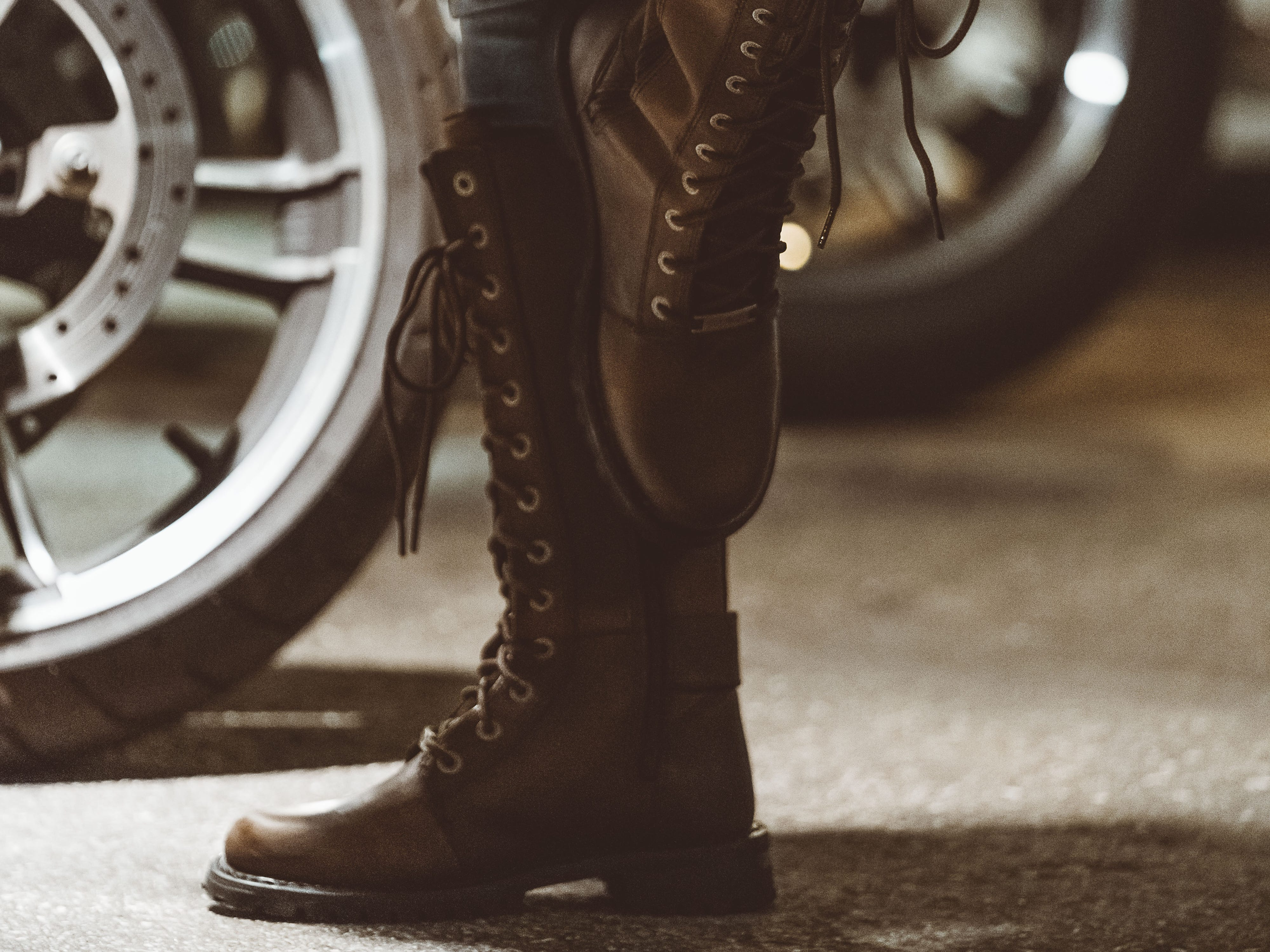 Lace-up brown Wolverine Belhaven boots ($220).