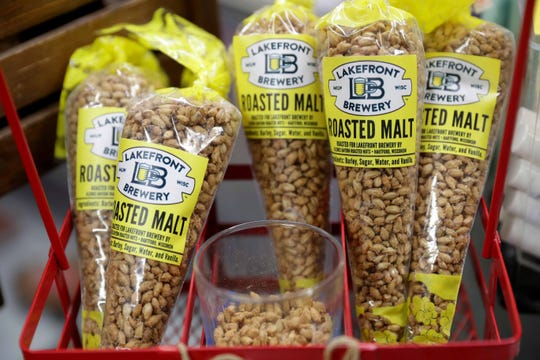 Treats like the Roasted Malt made with barley, sugar and vanilla are for sale in the gift shop at Lakefront Brewery.