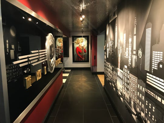 The upstairs jazz lounge is a tribute to Ella Fitzgerald and, as such, Dave Meister commissioned a mural of New York City, where the Queen of Jazz got her start.