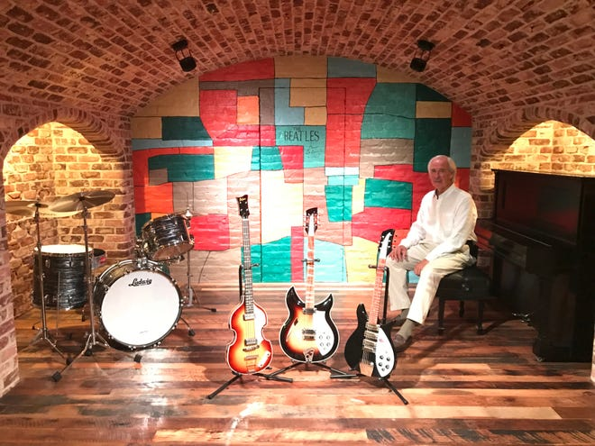 Dave Meister sits within the walls of his Cavern replica in Hartland in 2018. Meister is recreating the same Liverpool, England, club in downtown Waukesha for a Beatles-inspired venue to be called Let It Be. It's expected to open in summer 2021.