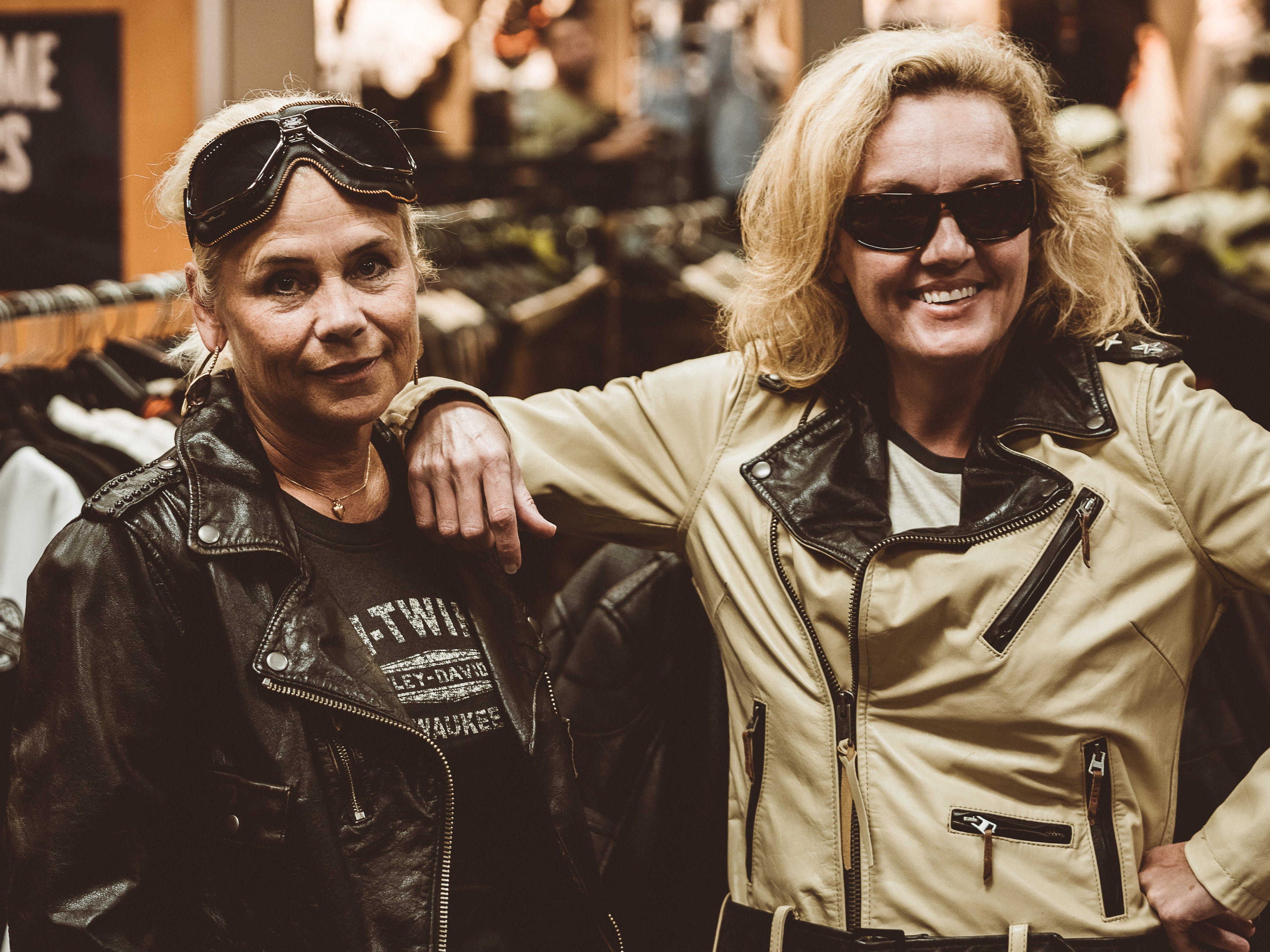 Majsan Bostrom (left) and Amanda Kingsbury were styled by Karen Davidson.