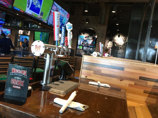 Walk-On's Bistreaux & Bar has self-pour taps as some tables.
