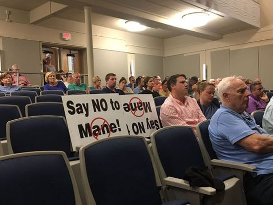 Residents at a Morris Plains planning board meeting on a proposed fragrance plant