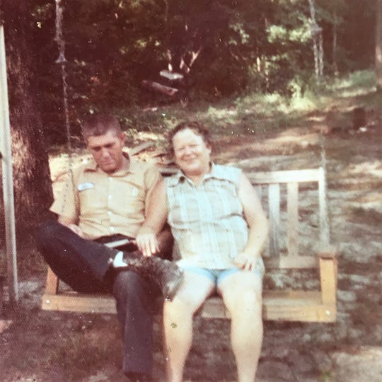 John Burgamy and his wife, Ida Burgamy. The couple was married for 38 years before Ida died in 1994.