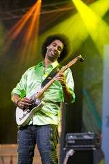 Selwyn Birchwood performs in Memphis, Tennessee on May 10, 2018.