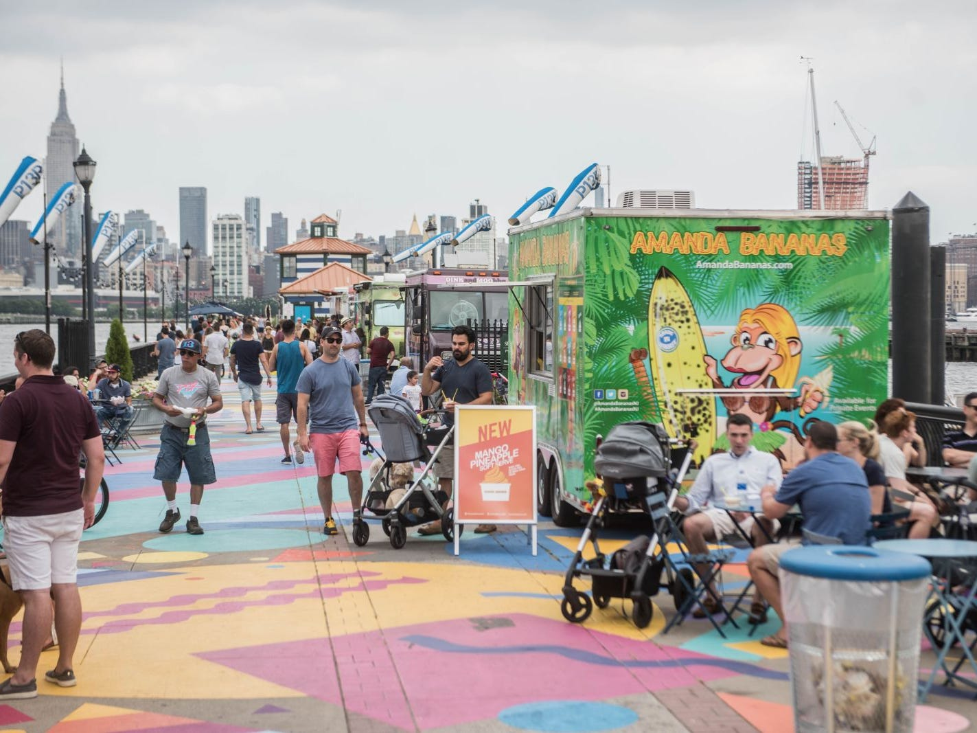 We dropped by Pier 13 in Hoboken to check out the end of summer fun in the area. 08/26/2018
