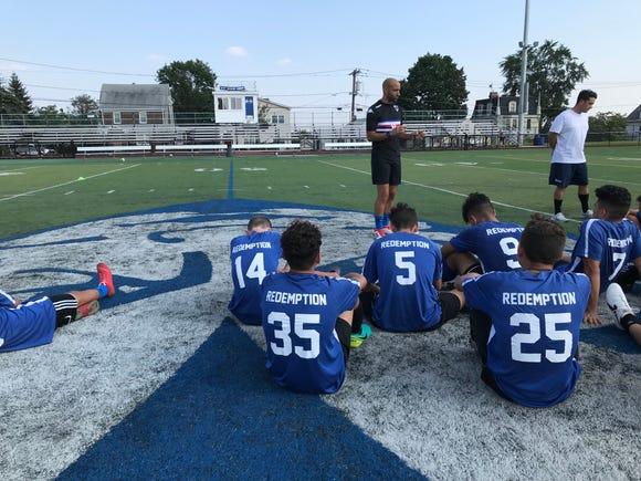Wood-Ridge boys soccer coach Alberico De Pierro talks about the Blue Devils scrimmage with Manchester.