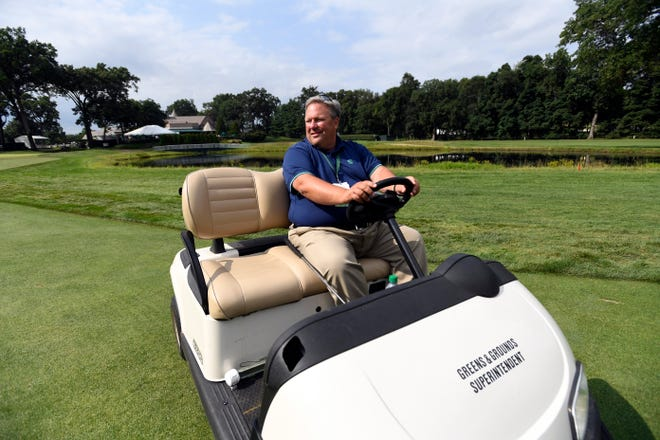 Todd Raisch, golf course superintendent at Ridgewood Country Club, photographed on the course during the final round of the Northern Trust PGA tour in Paramus, NJ on Sunday, August 26, 2018.