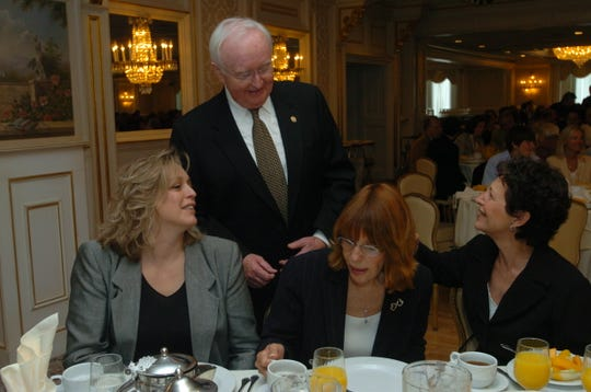 In this 2006 photo, Sen. Hank McNamara  talking with Deborah Gold (Ridgewood), Patricia Sarpia (Wayne) and Joann Torack (Wyckoff).