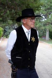 Farmington's Dustin Street was named after Almon (Al) Dustin, an early lawman in a lawless area portrayed by Bob Lehrer.