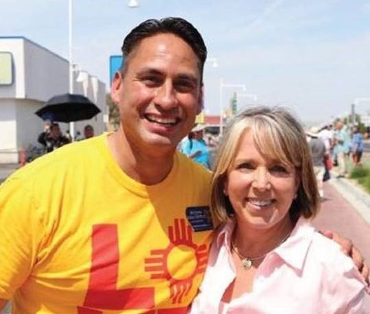 State Sen. Howie Morales and Michelle Lujan Grisham stopped in Ruidoso campaigning for governor and lieutenant governor in August.