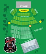 All American Music Festival venue and seating.