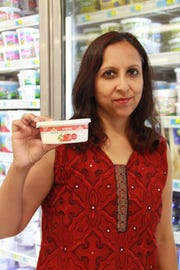 Harinee Sampath's Prayani Raita Indian Yogurt Dips are in the dairy case at Kroger stores in Michigan and select Whole Foods stores.