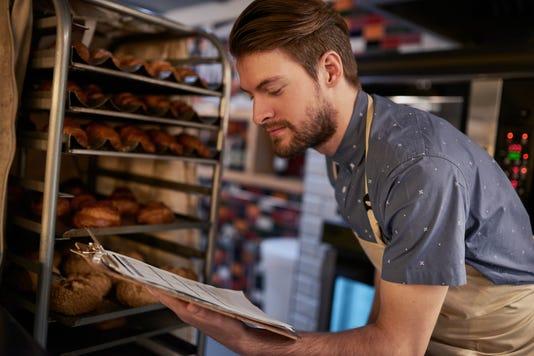 Restaurant inspection bakery tray