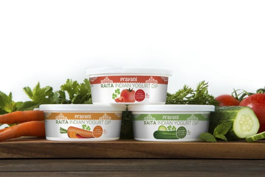 Prayani Raita Indian Yogurt Dip is available in three flavors