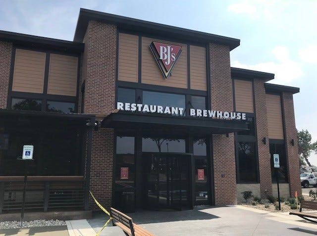 BJ's Restaurant & Brewhouse is now expected to open Sept. 3.
