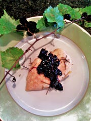 For a savory salute, try a vivid rich muscadine reduction sauce over rosemary roast chicken.
