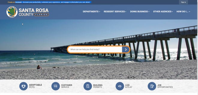 Santa Rosa County rolled out a new website early this month that was designed to make access easier for people using assisted technology and with improved features such as the site's search device.