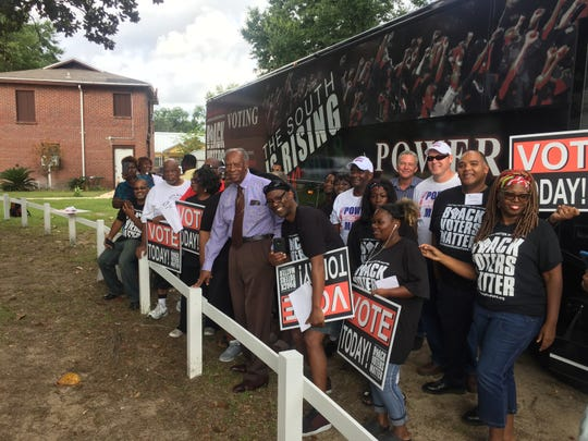 Members of the organization Black Voters Matter visited Pensacola on Aug. 27, 2018, to encourage African-Americans to vote.