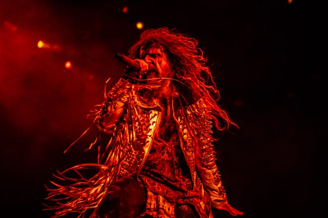 Rob Zombie performs at Ak-Chin Pavilion in Phoenix, Sunday, Aug. 26, 2018.