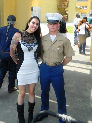 Kalin Case, with his then-girlfriend Stefani, joined the Marine Corps in 2013.