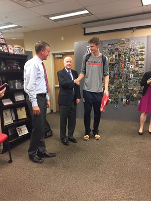 John McCain got to meet Lauri Markkanen after helping him get a visa to play basketball in the United State.