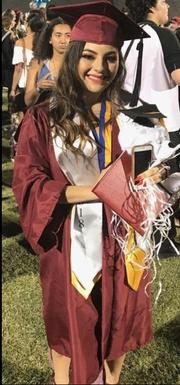 Kayla Gonzalez graduation pick from McClintock High School