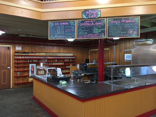 Once a popular lunch spot, the remants of the reFresh Cafe were all that remained of Kauffman's Produce.