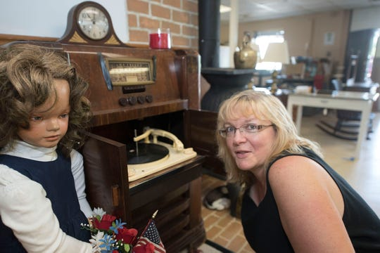 Brenda Hoffman will feature dolls and other special items in her Shippenburg shop, Interstate 81 Antiques, 15, Hershey Road. The store will hosts flea markets on Saturdays.