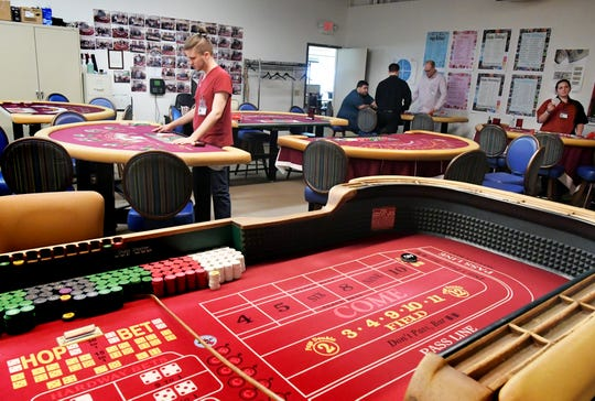 Employees work in a training room Hollywood Casino in Grantville, near Harrisburg, Friday, August 24, 2018. The casino is operated by Penn National Gaming, which may open a mini-casino in York County. Bill Kalina photo