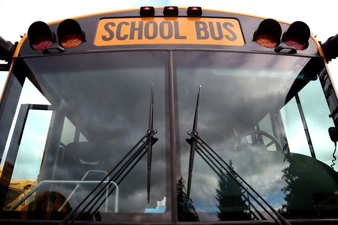 A West Clermont School District bus was hit from behind Aug. 28.