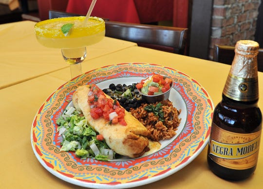A chorizo chimichanga at Mother's Cantina in Ocean City.