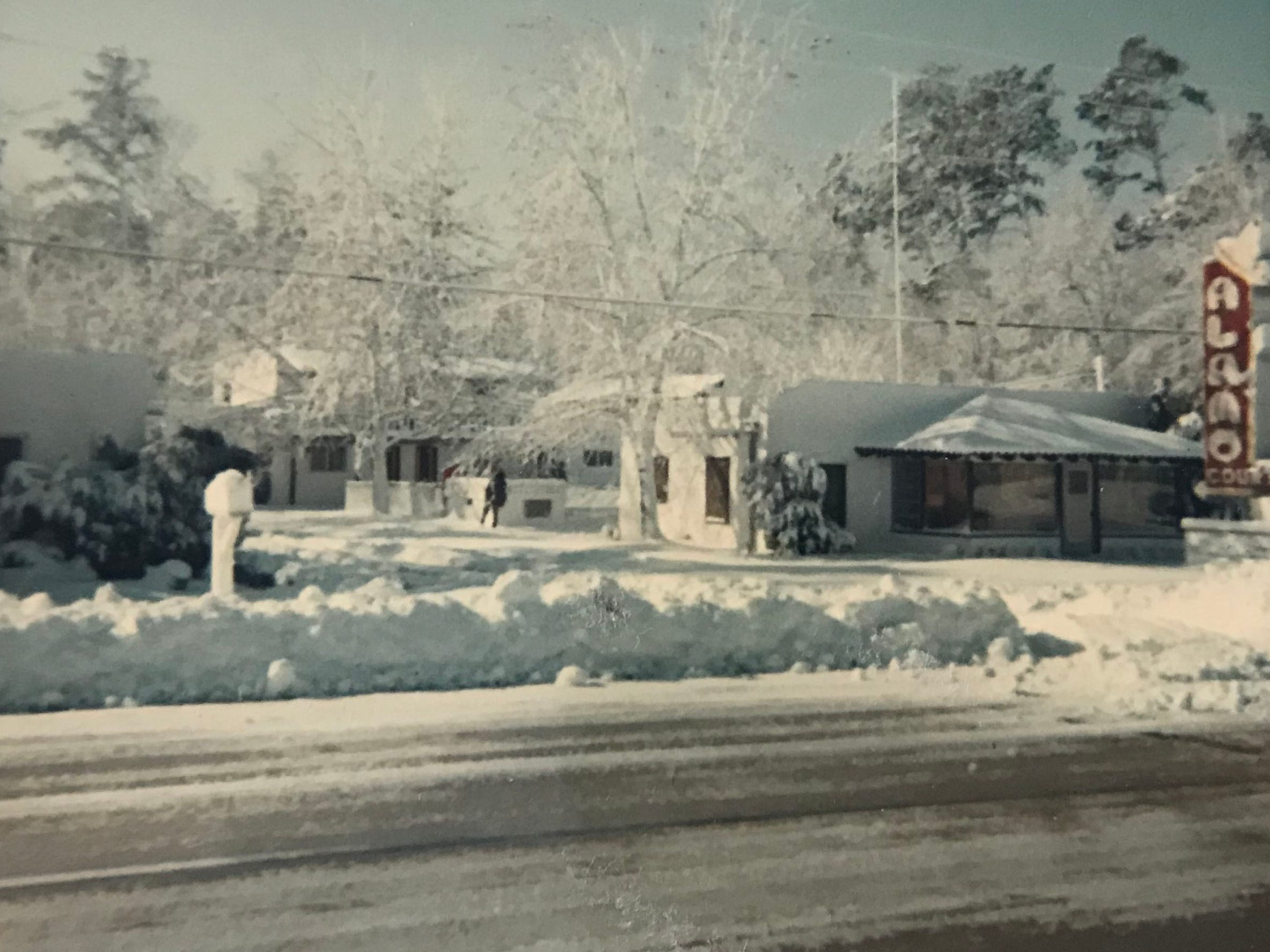 The Alamo Court during winter.