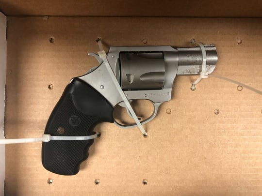 This 9mm revolver-style handgun was reported stolen out of Harbeson, Delaware and recovered from a Salisbury home on Sunday, Aug, 26, 2018.