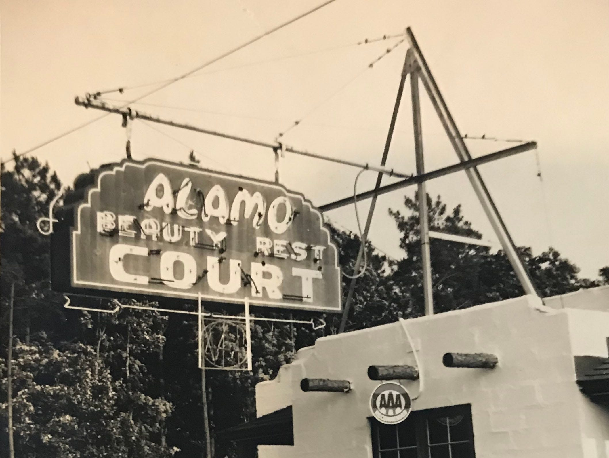 The Alamo Court sign in West Ocean City.