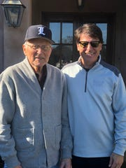 Former St. John's/Jesuit/Loyola coach Frank Cicero poses with his son, John, at a past event.