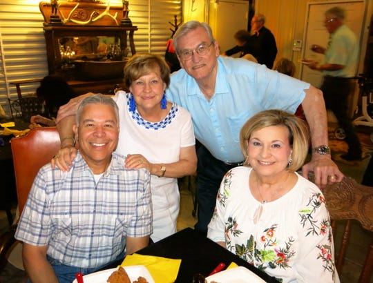 Jan Moran (clockwise from seated right), Steve Moran, Tommie Sue and Gerry Brooks at Rachel Brian's 75th birthday fete.