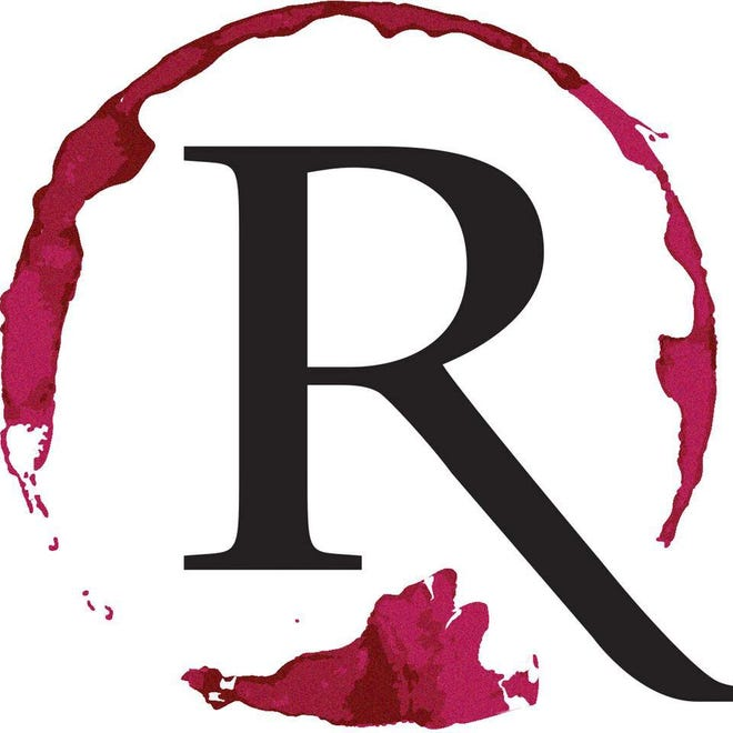 The logo for R Wine Bar in Sioux Falls.