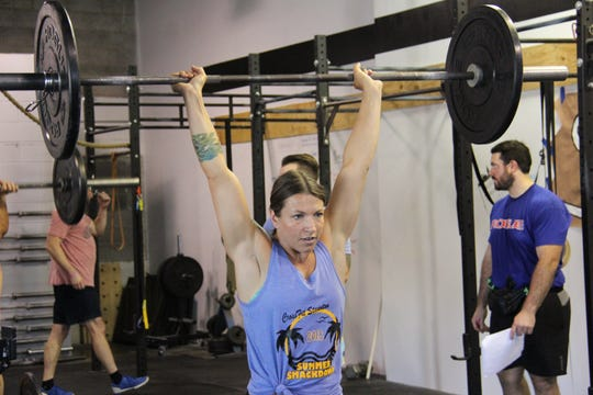 Jessie Purcell during the Summer Smackdown competition on Aug. 25, 2018 at CrossFit Staunton.