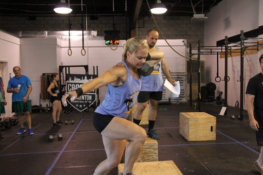 Kelly Lum during the Summer Smackdown competition on Aug. 25, 2018 at CrossFit Staunton.