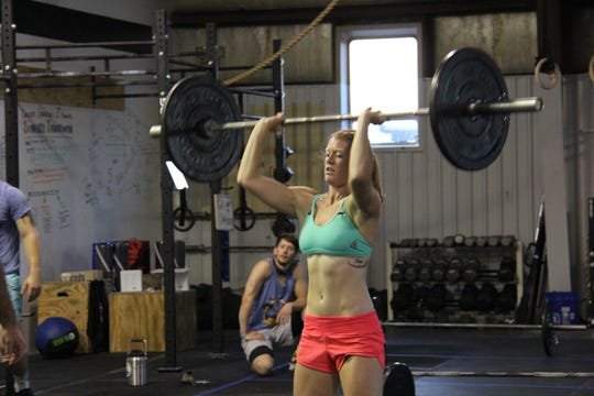 Alex Clark during the Summer Smackdown competition on Aug. 25, 2018 at CrossFit Staunton.