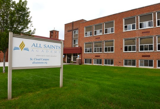 All Saints Academy is shown Monday, Aug. 27, at 1215-11th Ave. N, St. Cloud.