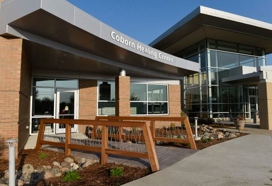 There is a bridge leading into the new Coborn Healing Center shown Thursday, Aug. 23, in the CentraCare Health Plaza. The bridge represents a person's journey as they're going through cancer and crossing into a new phase of life.